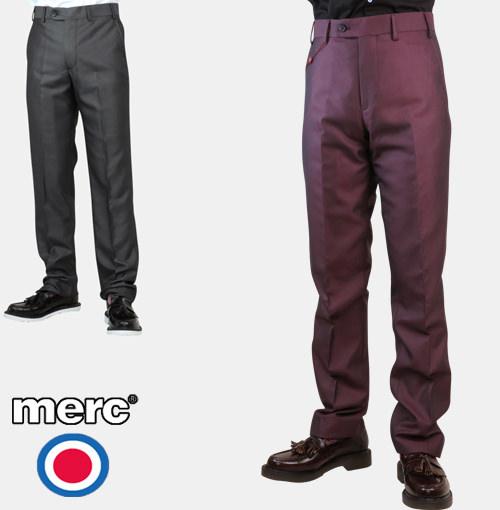 メルクロンドン トラウザー スラックス トニック スーツ 2色 ワイン チャコール Merc London メンズ プレゼント ギフト