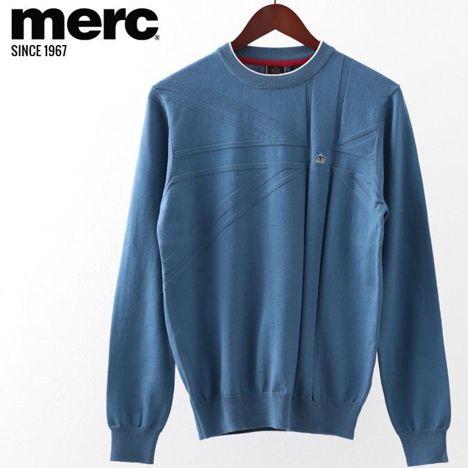 メルクロンドン メンズ セーター Merc London メルク ニット ユニオンジャック ブルー プレゼント ギフト