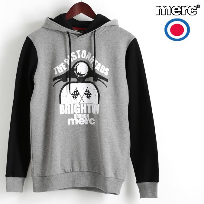 メルクロンドン Merc London パーカ フーディー グラフィック スクーター ブラック W1 プレミアム メンズ ベスパ VESPA モッズファッション プレゼント ギフト