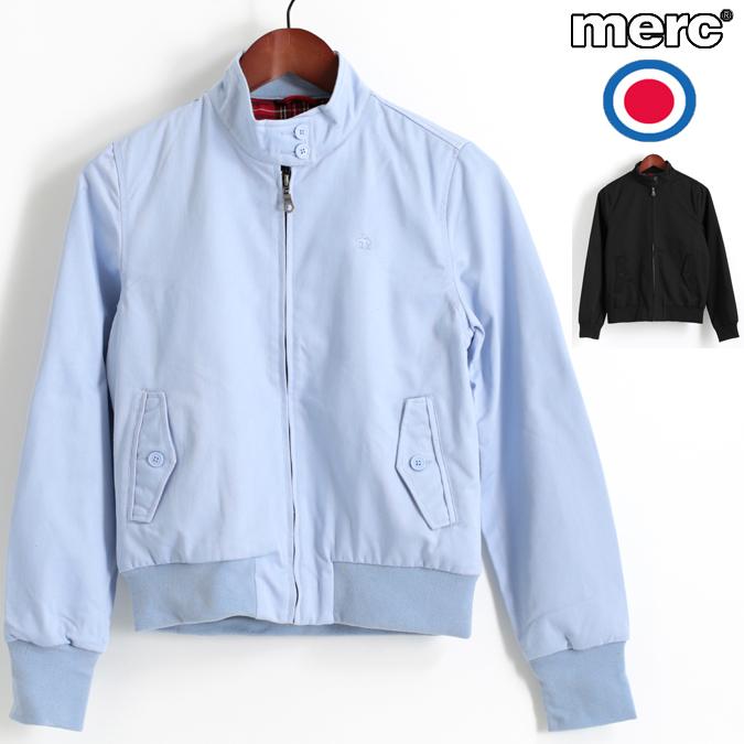 メルクロンドン Merc London レディース ハリントンジャケット スウィングトップ 2色 ポーセリンブルー ブラック モッズ プレゼント ギフト