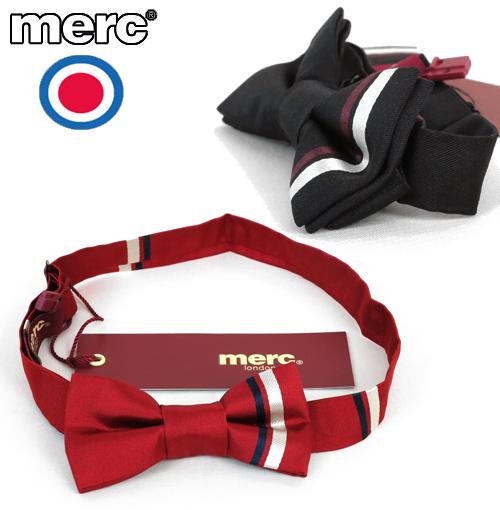 メルクロンドン Merc London ストライプ シルク 蝶ネクタイ ボウタイ メンズ プレゼント ギフト 就職祝い 卒業式
