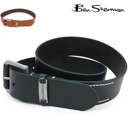 ベンシャーマン Ben Sherman メタル キーパー 本革レザー ベルト メンズ プレゼント ギフト
