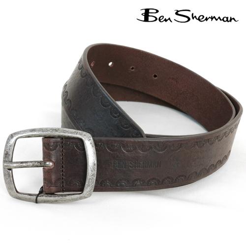セール ベンシャーマン Ben Sherman 本革レザー デボス ベルト メンズ プレゼント ギフト