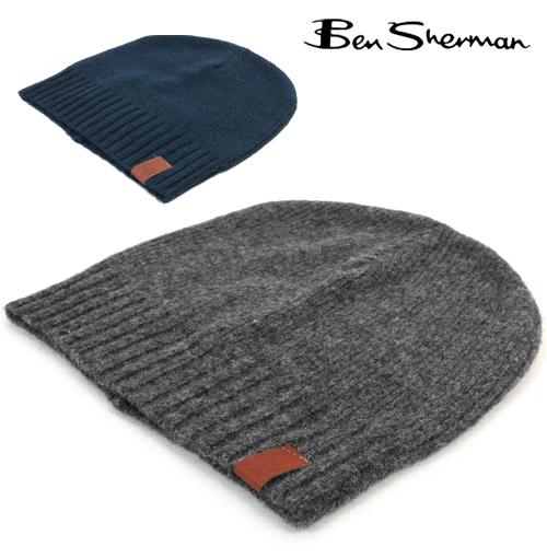 ベンシャーマン Ben Sherman ウール プレイン ビーニー ニット帽 メンズ プレゼント ギフト