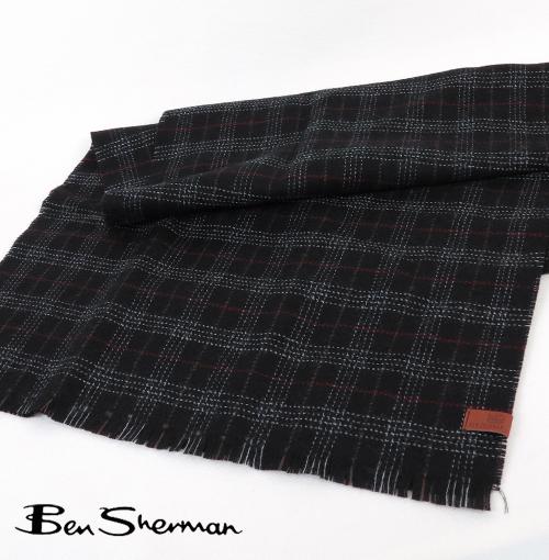 ベンシャーマン Ben Sherman スカーフ マフラー ウール チェック 【送料無料】 メンズ プレゼント ギフト