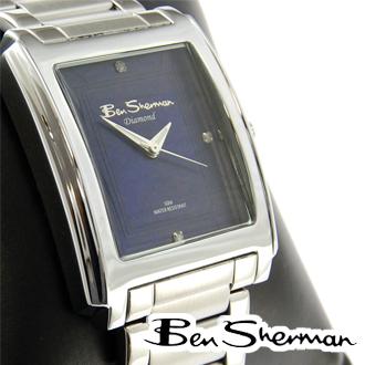 ベンシャーマン Ben Sherman ブルー フェイス 腕時計 メンズ 【送料無料】 ステンレス スティール ベルト ウォッチ アナログ腕時計 UKモッズ r315 プレゼント ギフト