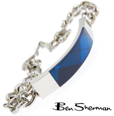 ベンシャーマン Ben Sherman ブルー アーガイルチェック ブレスレット 【送料無料】 モッズ ファッション ブレス ロゴ アクセサリー プレゼント ギフト BOX BenSherman UKモッズ r852 プレゼント ギフト