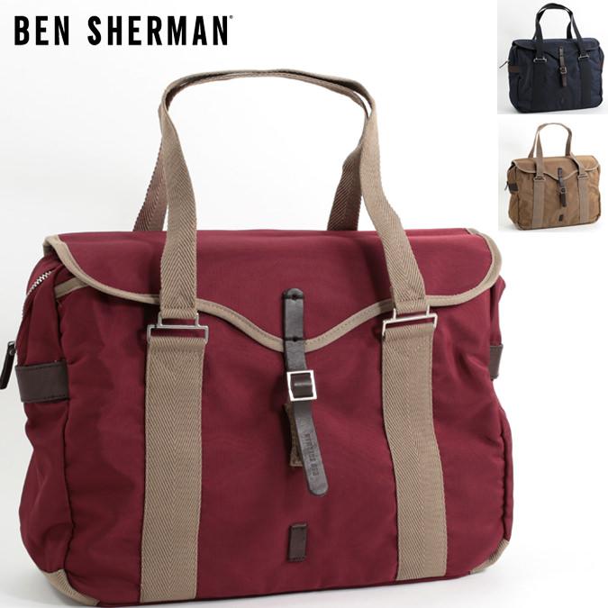 ベンシャーマン Ben Sherman ショルダーバッグ ハンドバッグ オーバーナイトバッグ ナイロン 42x34x14.5cm 3色 サンド マルーン ネイビー メンズ レディース プレゼント ギフト