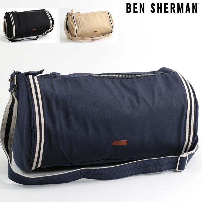 97a9f786fd Ben Sherman Ben Sherman three-color tour canvas barrel bags also mens new  barrel bag shoulder bag shoulder bag mod fashion black Navy oatmeal Bag Bag  logo ...