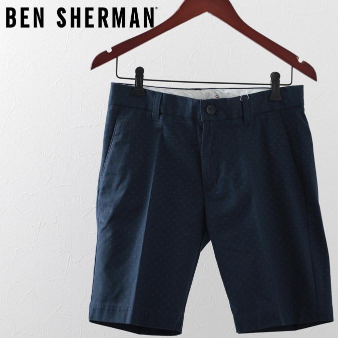 ベンシャーマン メンズ ハーツパンツ 短パン Ben Sherman ポルカドット 19SS 新作 ネイビー プレゼント ギフト