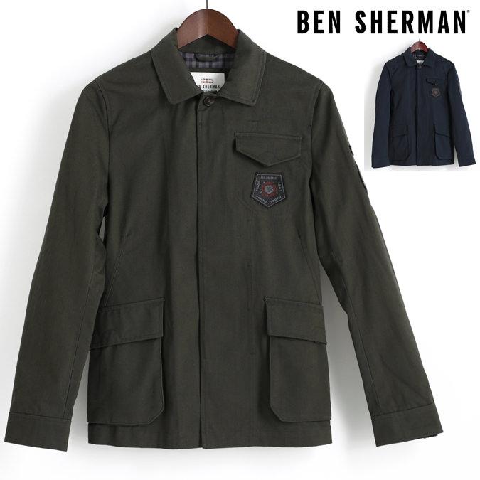 ベンシャーマン Ben Sherman ツイルジャケット ミリタリー 2色 ピート カーボン メンズ プレゼント ギフト