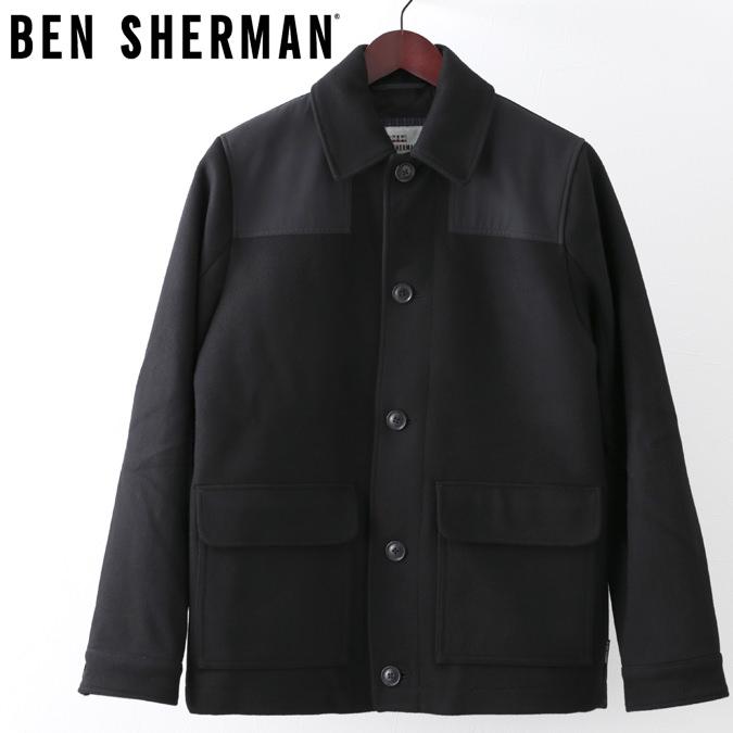 ベンシャーマン Ben Sherman ドンキージャケット ワックス ブラック メンズ プレゼント ギフト