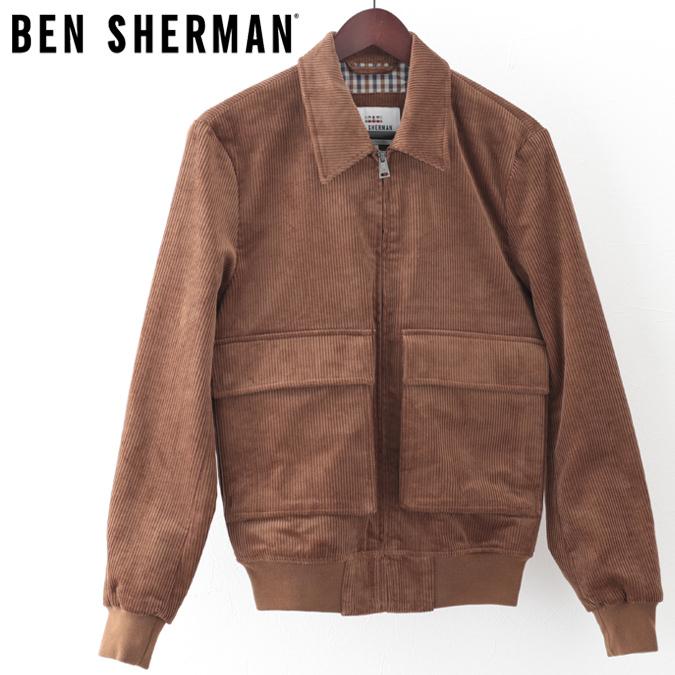 ベンシャーマン メンズ ジャケット コーデュロイ タン Ben Sherman プレゼント ギフト