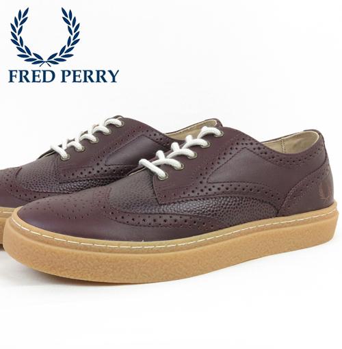 フレッドペリー Fred Perry シューズ ローカット スニーカー デイビス レザー ブローグ ウイングチップ 本革レザー 革 メンズ