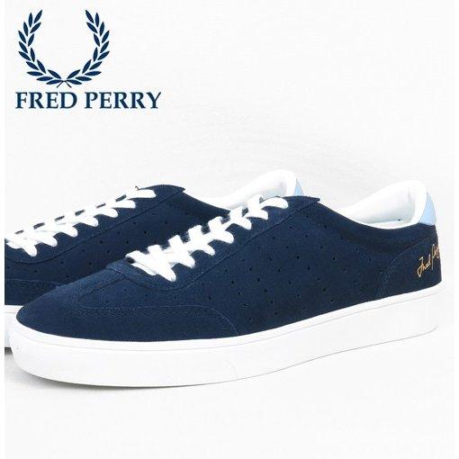 フレッドペリー Fred Perry ローカット スニーカー アンパイアスウェード テニスシューズ カーボンブルー 靴 メンズ シューズ ギフト
