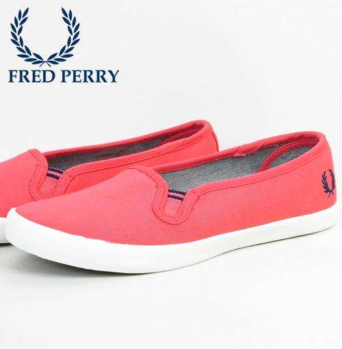 フレッドペリー Fred Perry スニーカー ツイル スリッポン レディース シューズ パンプス 靴