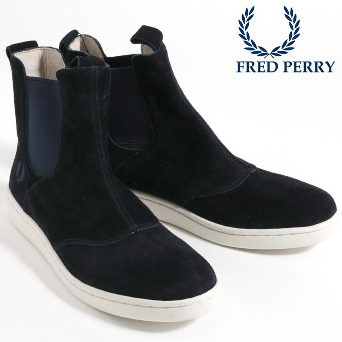 フレッドペリー Fred Perry シューズ スニーカー ハイカット ブーツ マスケル サイドゴア スウェード ネイビー メンズ レディース プレゼント ギフト