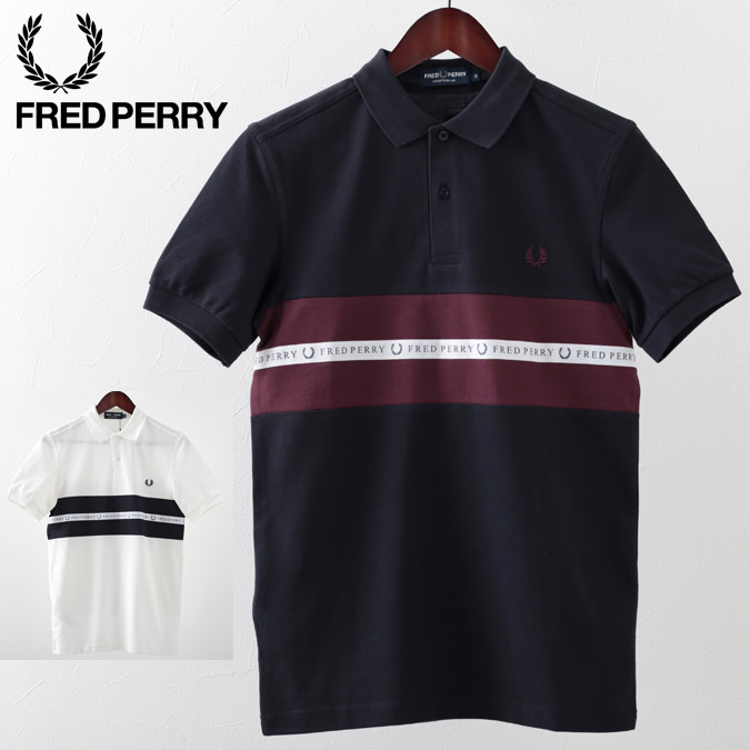 フレッドペリー メンズ ポロシャツ ポロ スポーツ テープ ピケ 鹿の子 Fred Perry 2019 新作 2色 スノーホワイト ネイビー 正規販売店 プレゼント ギフト
