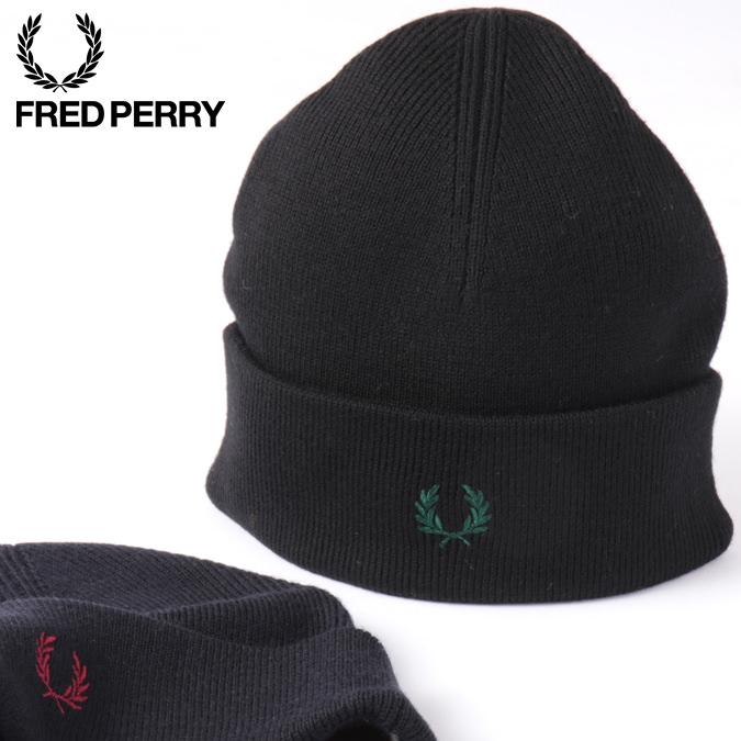 フレッドペリー メンズ ニット帽 ビーニー メリノウール Fred Perry 19AW 新作 ユニセックス 男女兼用 2色 ブラック ネイビー レディース プレゼント ギフト 正規販売店