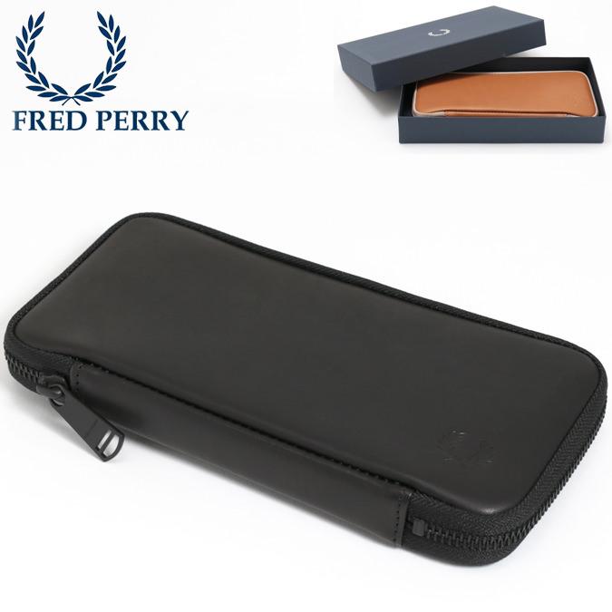 フレッドペリー Fred Perry 長財布 レザーパース アラウンドジップ ウォレット 本革レザー 牛革 日本製 ブラック キャメル メンズ レディース プレゼント ギフト
