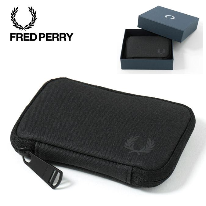 フレッドペリー Fred Perry シェルター コンパクト ウォレット ブラック 防水 正規販売店 レディース メンズ プレゼント ギフト