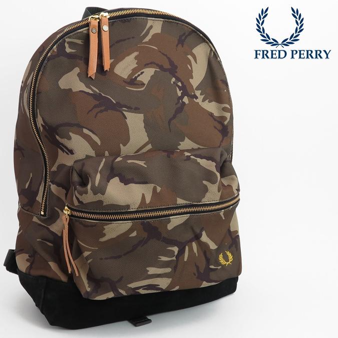 フレッドペリー Fred Perry ピケバックパック カモプリント リュックサック カバン メンズ レディース プレゼント ギフト