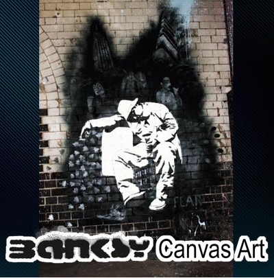 バンクシー 壁掛け アート アートパネル ポスター アートフレーム 【送料無料】BANKSY CANVAS ART バンクシー