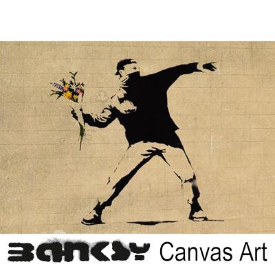 ABBEY CLOZEST | Rakuten Global Market: BANKSY CANVAS ART Banksy ...