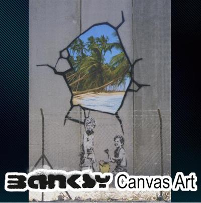 Banksy wall art art Panel art frame Interior BANKSY Palestine wailing wall  Gaza Strip Kids Paint Beach 60.5 x 40.5 painting painting art canvas canvas art ...  sc 1 st  Rakuten & ABBEY CLOZEST | Rakuten Global Market: Banksy wall art art Panel art ...
