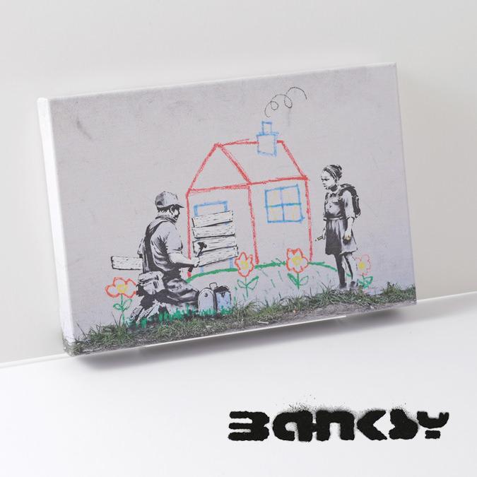 BANKSY CANVAS ART SMALL キャンバス アートパネル ポスター スモール