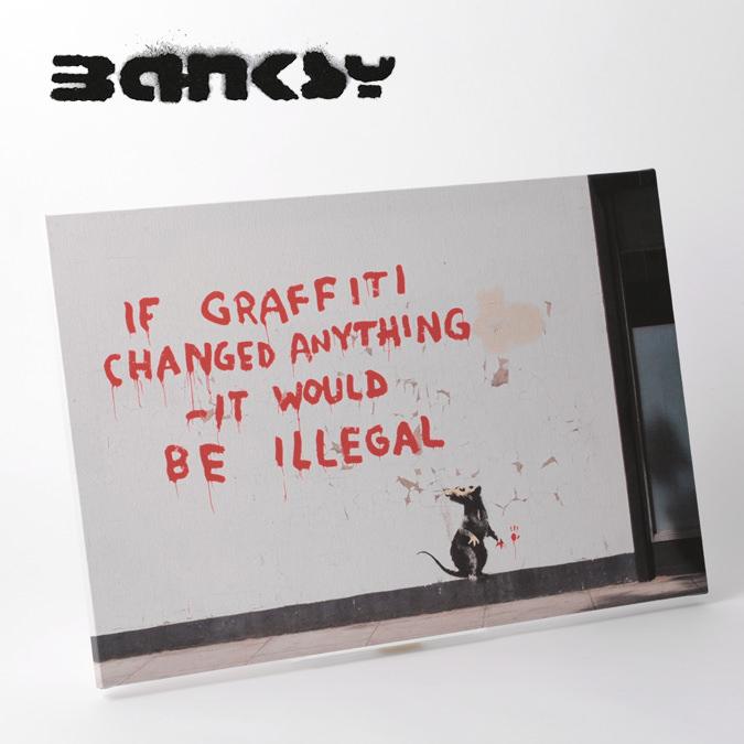BANKSY CANVAS ART キャンバスアートパネル