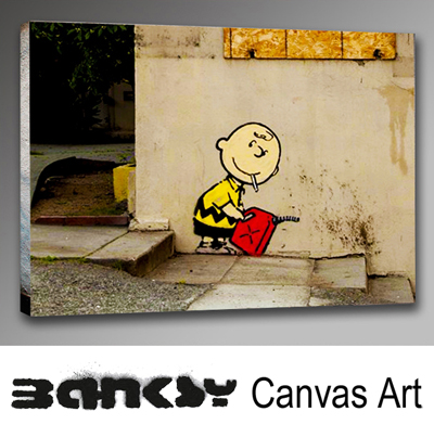Fine Banksy Canvas Wall Art Festooning - Wall Art Design ...