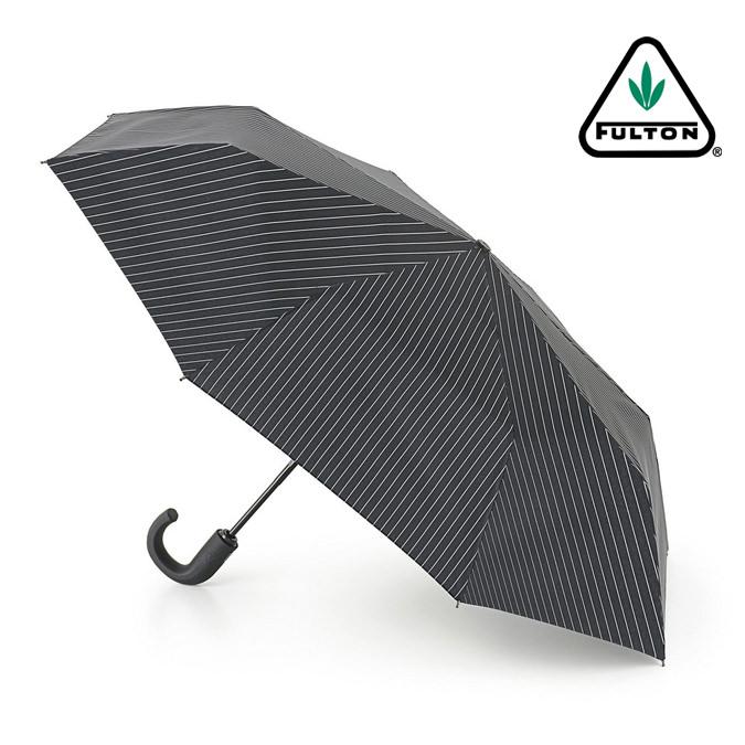 フルトン 折りたたみ 傘 メンズ Chelsea 紳士用 紳士 ストライプ ブラック 正規 かさ ワンタッチ ジャンプ傘 プレゼント ギフト