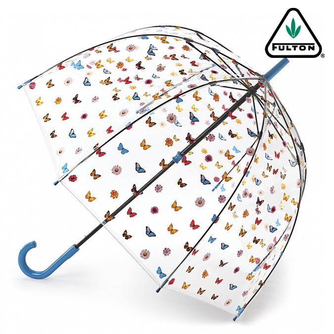 FULTON 傘 レディース バードケージ イングリッシュガーデン 長傘 フルトン フラワー フローラル 花 蝶 バタフライ 正規 かさ プレゼント ギフト