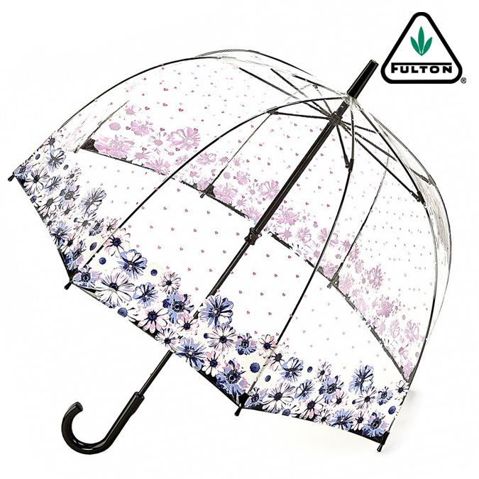 FULTON フルトン 傘 バードケージ フラワーラブ 長傘 花柄 バラ レディース 正規 かさ プレゼント ギフト