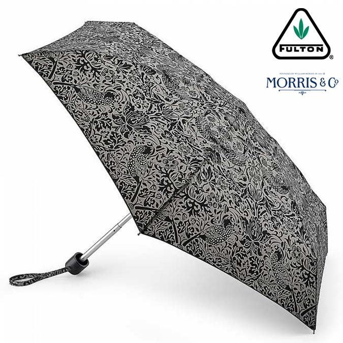 ウィリアム モリス タイニー ストロベリー シーフ ピュア FULTON x Morris 傘 フルトン クラシカル 花柄 傘 折りたたみ傘 Tiny 英国王室御用達 レディース