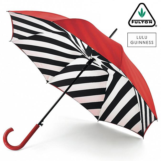 フルトン x ルルギネス 傘 Lulu Guinness x FULTON コラボ ブルームズベリー レディース 長傘 かさ ジャンプ ワンタッチ プレゼント ギフト 母の日