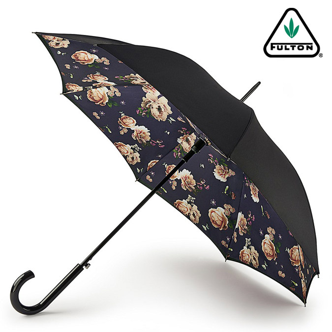 FULTON 傘 レディース ブルームズベリー ミッドナイト ブルーム フルトン bloomsbury 長傘 花柄 かさ プレゼント ギフト