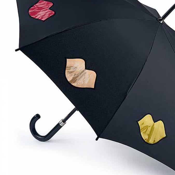 フルトン x ルルギネス 傘 Lulu Guinness x FULTON コラボ ケンジントン レインボー リップス レディース 長傘 かさ プレゼント ギフト 母の日