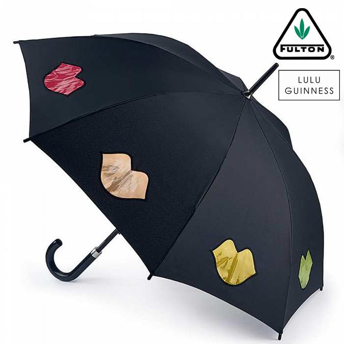 フルトン x ルルギネス 傘 Lulu Guinness x FULTON コラボ ケンジントン レインボー リップス レディース 長傘 かさ プレゼント ギフト