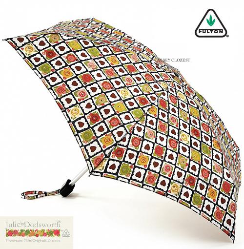 FULTON フルトン 傘 アンブレラ Julie Dodsworth デザイナーコラボ タイニー チョコレート ボックス 折りたたみ傘 【送料無料】 英国王室御用達 ジュリー ドッズワース レディース 花柄 フラワー Tiny Umbrella かさ ファッション イギリス ロンドン fultonl772chocolate