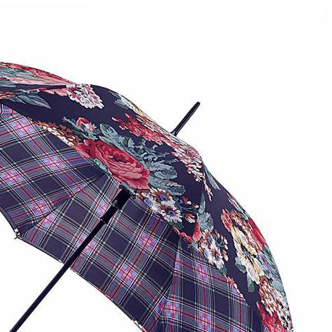キャスキッドソン 傘 ブラック フレストン チェック FULTON × Cath Kidston フルトン レディース Bloomsbury 長傘 女性用 かさ 花柄 チェック プレゼント ギフト 母の日
