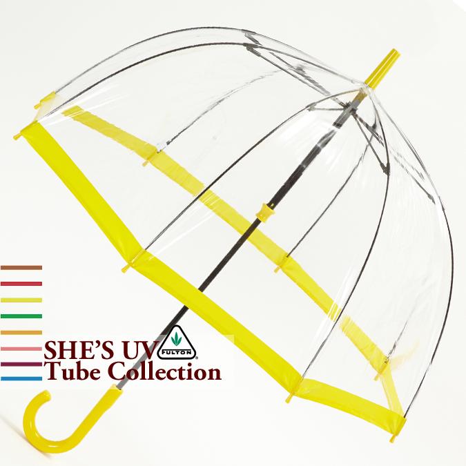 フルトン Fulton 傘 バードケージ She's UV Circle Yellow プロテクション イエロー 長傘 レディース 正規 かさ FULTON プレゼント ギフト