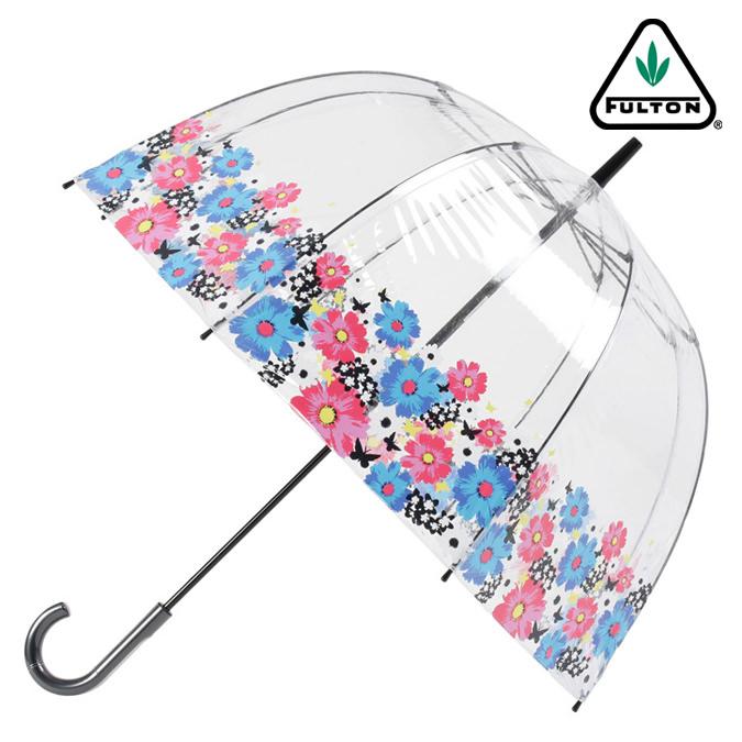 FULTON 傘 レディース バードケージ サマーフラワー 長傘 フルトン かさ フラワー フローラル 花柄 プレゼント ギフト