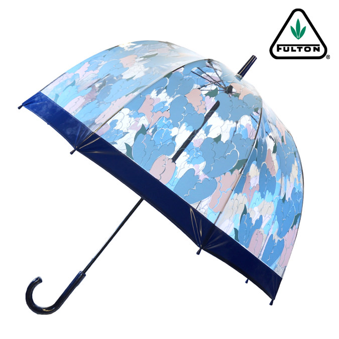 Fulton 傘 バードケージ チューリップ ネイビー 花柄 長傘 ブランド レディース プレゼント ギフト
