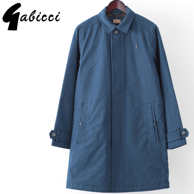 Gabicci メンズ マックコート ツイル ガビッチ ロングコート ストーム レトロ モッズファッション プレゼント ギフト