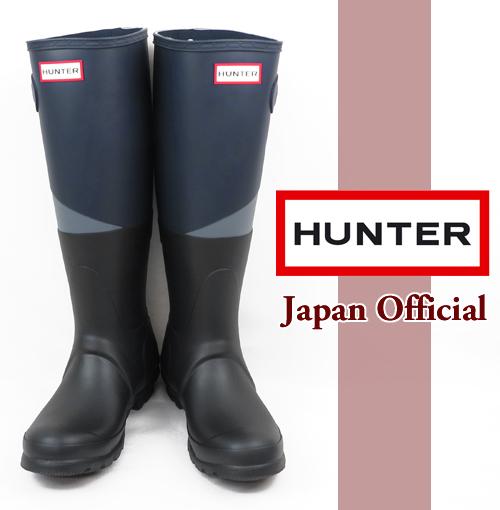 【ハンター HUNTER レインブーツ】 長靴 オリジナル アシンメトリック カラー ブロック レディース