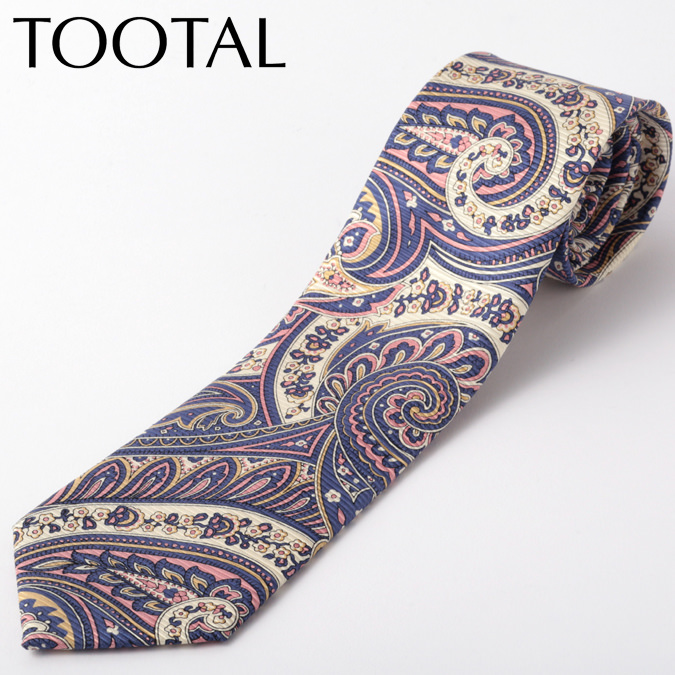Tootal Vintage メンズ シルク ネクタイ トゥータル ヴィンテージ オリジナル ペイズリー ネイビー タイ プレゼント ギフト 就職祝い 卒業式