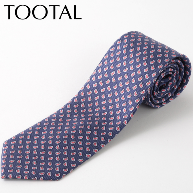 Tootal Vintage メンズ シルク ネクタイ トゥータル ヴィンテージ オリジナル ペイズリー コバルト タイ プレゼント ギフト 就職祝い 卒業式