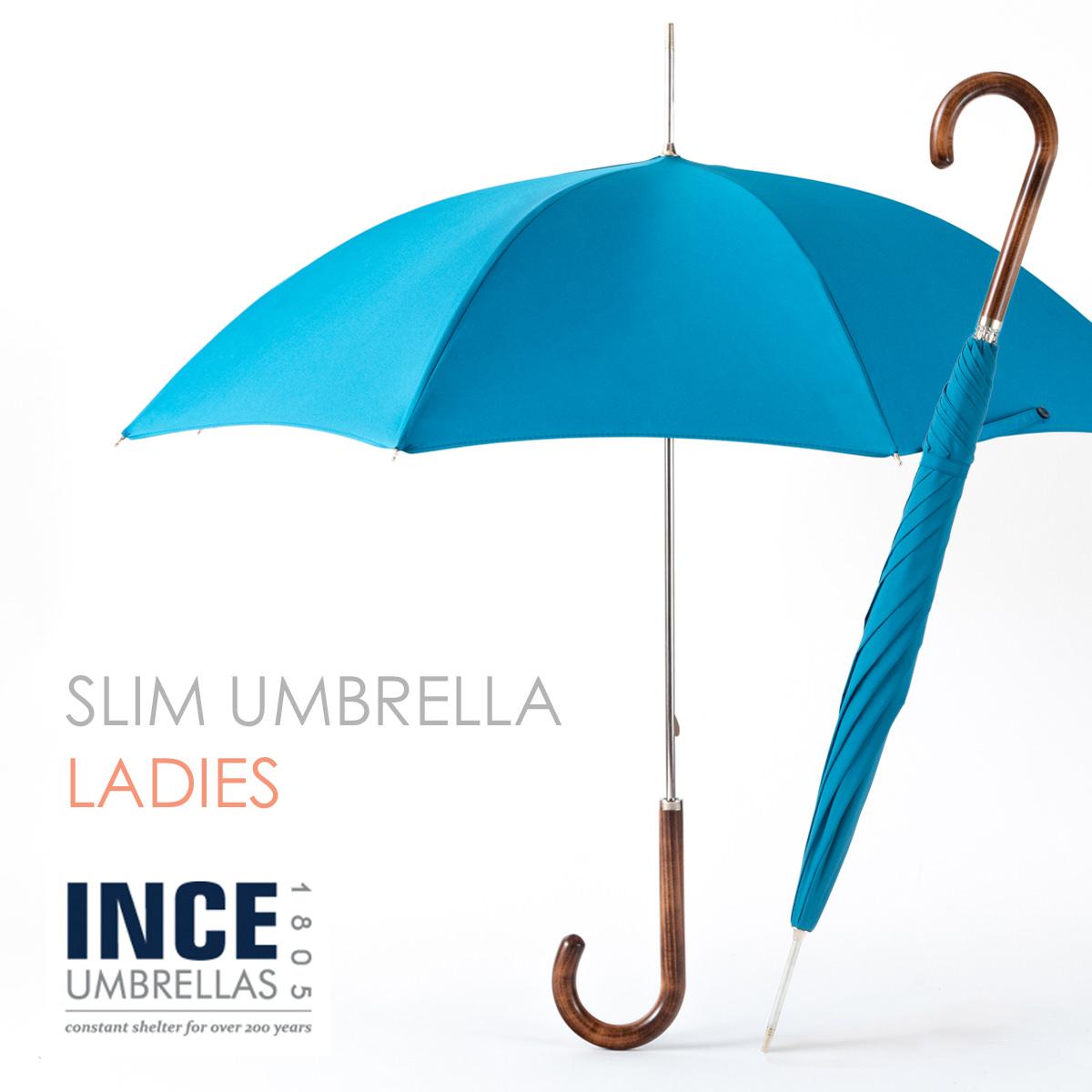 SALE 紫外線99%カット 軽量 細身 晴雨傘 イギリスで最も長い歴史を持つ傘メーカーの細く華奢な傘 丈夫 スタイリッシュ ウッド 限定タイムセール 木製 おしゃれ 女性用 水色 ライトブルー KING FISHER セール INCE UMBRELLA インスアンブレラ メープルウッドハンドル シティ 超定番 ターコイズ inceladcs-kingfisher 日傘兼用 かさ 無地 イギリス City レディース Slim キングフィッシャー ロンドン 2021新作 ギフト スリム 長傘